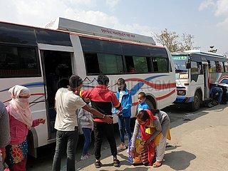NEPAL-KATHMANDU-Terminal-COVID-19