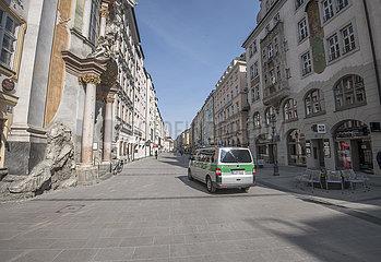 leere Muenchener Innenstadt  kurz vor der Ausgangssperre  20.03.2020