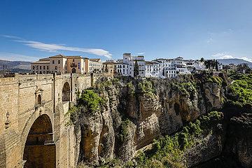 Bergdorf Ronda  Andalusien  Spanien  Europa