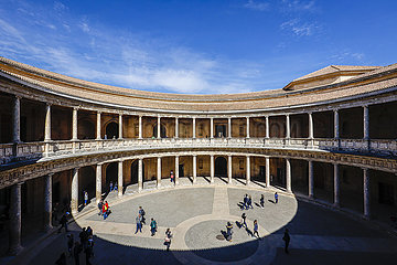 Alhambra  Palacio Carlos V.  Granada  Andalusien  Spanien  Europa