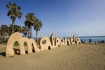Malaga  Malagueta Strand  Andalusien  Spanien  Europa