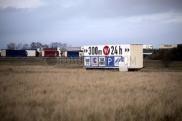 Cargo Truck Tailbacks  Germany-Poland Coronavirus Pandemic
