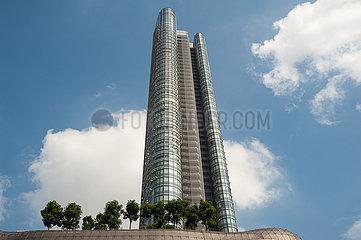 Singapur  Republik Singapur  Wolkenkratzer mit The Orchard Residences und ION Orchard Einkaufszentrum