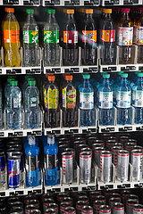 Deutschland  Bremen - Getraenkeautomat mit den ueblichen soft drinks