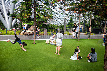 Singapur  Republik Singapur  Kinder auf Spielplatz Canopy Park im Jewel Terminal am Flughafen Changi