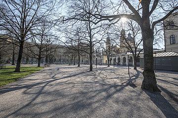 leerer Muenchener Hofgarten  24.03.2020