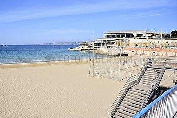 Gesperrter Strand  Marseille