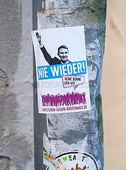 Heidelberg  Deutschland  Politischer Aufkleber gegen AfD Partei und Bjoern Hoecke