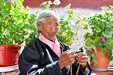 (InTibet) CHINA-TIBET-SONAM Drölma-OLD AGE-BETTER LEBENS (CN)