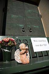 Deutschland  Bremen - Wegen Corona geschlossenes Kirche und Gemeindezentrum St.Ansgarii (evangelisch)