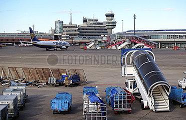 Berlin  Deutschland  Auswirkungen des Coronavirus: Stillstand am Flughafen Tegel