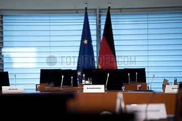 Schild Angela Merkel  Kabinett
