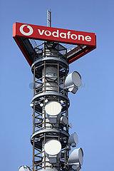 Berlin  Deutschland  Sendemast des Mobilfunkanbieters vodafone