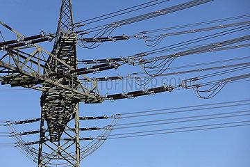 Nunsdorf  Deutschland  Strommast und Hochspannungsleitungen