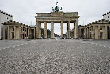 Brandenburger Tor Pariser Platz Corona Virus