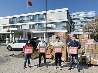 DEUTSCHLAND-FRANKFURT-COVID-19-CHINA-ausländische Studenten-HEALTH SäTZE
