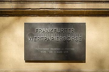 Frankfurter Wertpapierboerse  Frankfurt am Main  Hessen  Deutschland