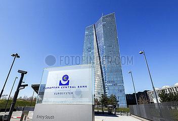 EZB Europaeische Zentralbank  Frankfurt am Main  Hessen  Deutschland