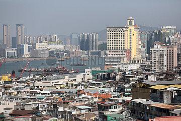 Macau  China  Stadtansicht
