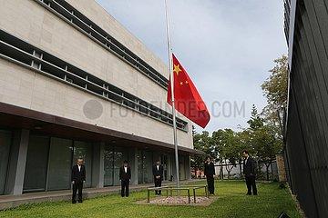 AUSTRALIEN-PERTH-COVID-19-Generalkonsulat CHINA-NATIONAL FLAG-halbmast