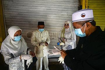 INDONESIEN-SOUTH Tange-COVID-19-HOCHZEIT