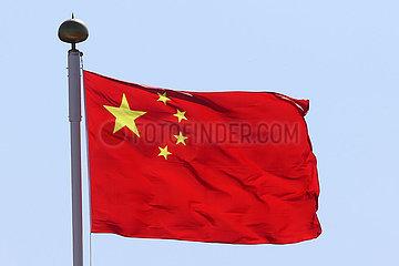 Hongkong  China  Nationalfahne der Volksrepublik China