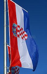 Berlin  Deutschland  Nationalfahnen der Republik Kroatien