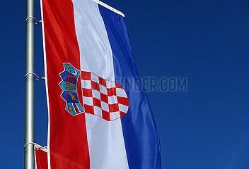 Berlin  Deutschland  Nationalfahne der Republik Kroatien