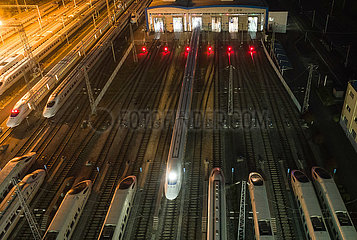 CHINA-HUBEI-WUHAN-FIRST OUTBOUND TRAIN WITHIN HUBEI TRAVELLING (CN)