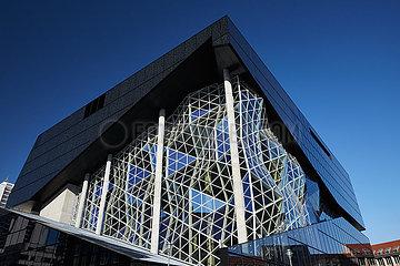 Berlin  Deutschland - Neubau des Springer Verlag in Berlin-Mitte.