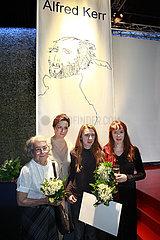 Haus der Berliner Festspiele  TT 09 ALFRED-KERR-DARSTELLERPREIS FUER KATHLEEN MORGENEYER