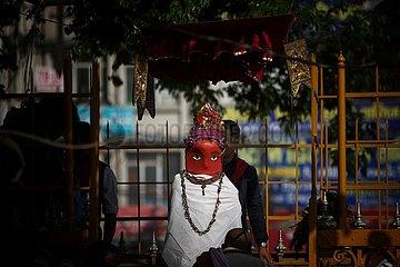 NEPAL-Lalitpur-RITUAL-COVID-19