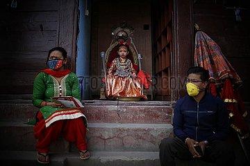 NEPAL-lalitpur-RITUAL-COVID-19 NEPAL-lalitpur-RITUAL-COVID-19