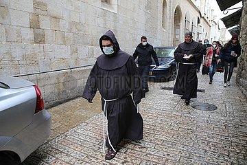 MIDEAST-JERUSALEM-COVID-19-KARFREITAG