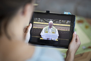 Ostermesse durch Papst Franziskus