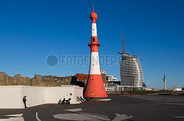 Deutschland  Bremerhaven - Das Unterfeuer am Neuen Hafen