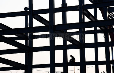 (SP)CHINA-RIZHAO-SHANDONG PROVINCIAL SPORTS GAMES-STADIUMS-CONSTRUCTION (CN)