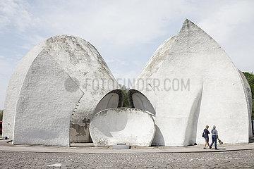 Krematorium  erbaut von Avraham Miletski  auf dem Baikowe-Friedhof in Kiew