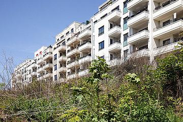 Neubau von Wohnungen auf dem Gelaende des ehemaligen Boehmischen Brauhaus in der Pufendorfstrasse in Berlin-Friedrichshain