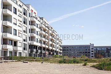 Neubau von Wohnungen auf dem Gelaende des ehemaligen Boehmischen Brauhaus an der Landsberger Allee in Berlin-Friedrichshain