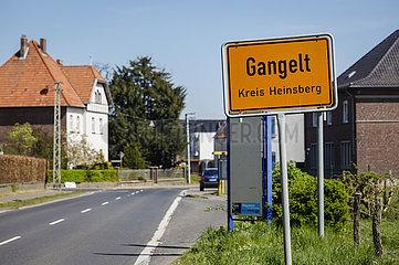 Ortsschild Gangelt  Kreis Heinsberg  Nordrhein-Westfalen  Deutschland
