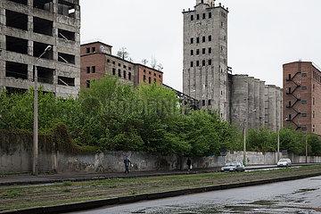 Industrieruine in Charkiw