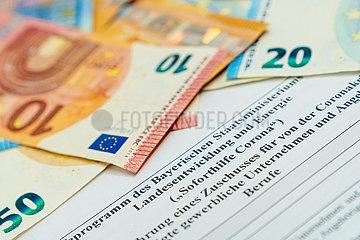 Antrag fuer ein Soforthilfeprogramm des Bayerischen Wirtschaftsministerium im Zuge der Corona Krise