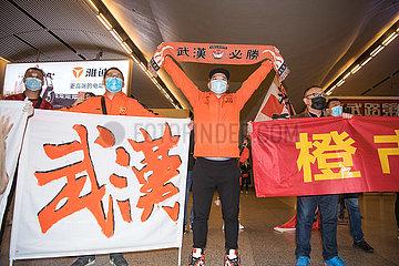 CHINA-WUHAN-FUSSBALL-TEAM-RETURN HOME (CN)