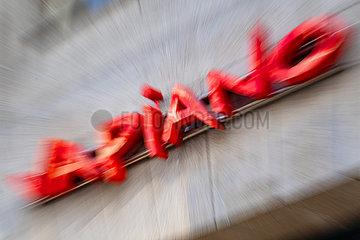 Schriftzug der Restaurantkette Vapiano