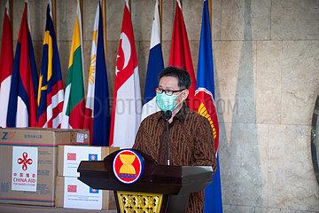 INDONESIEN-JAKARTA-COVID-19-ASEAN-CHINA-SPENDE