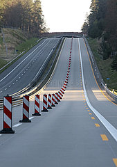 Grumsin  Deutschland  Kein Verkehr auf der A11 in Zeiten der Corona-Krise