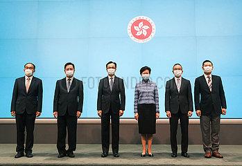 CHINA-HONGKONG-HKSAR REGIERUNG-NEW ERNENNUNG-PRESSEKONFERENZ (CN)