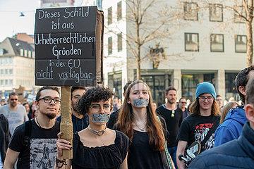 Protest against EU copyright reform in Munich