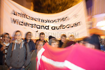 Demonstration to remember the victims of the antisemitish terror act in Halle